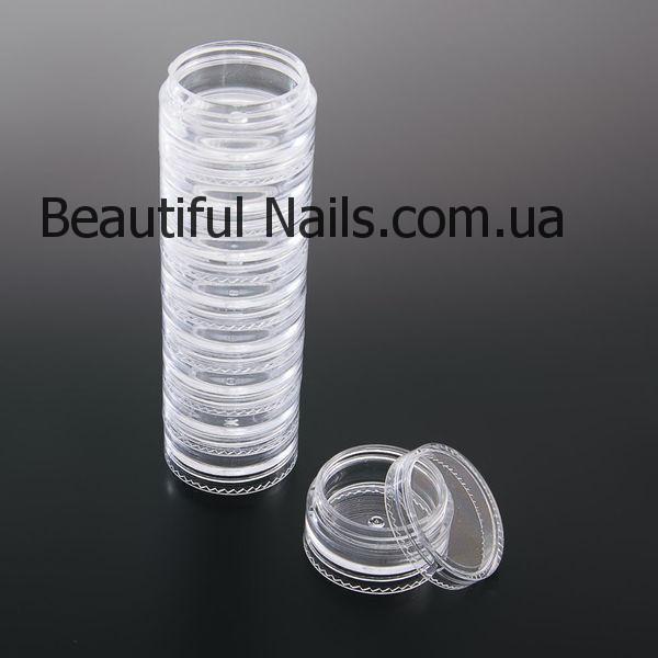Баночки-закрутки пластиковые ,(столбик) 5шт/уп.