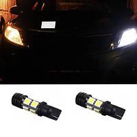 2x LED лампа в автомобиль под T10\ W5W, 8 SMD + 1 COB (2 штуки в наборе)