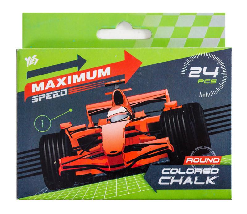 Мел цветной круглый  24 шт. ''Maximum speed''