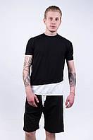 """Мужская футболка """"Dark Side""""  black white"""