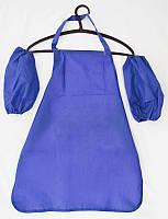 Фартушек для творчества с нарукавниками, 50X60 см, синий