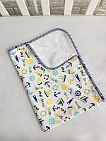 ad445a3c3094 Непромокаемая многоразовая пеленка «Морская прогулка», хлопок+мембранная  махра