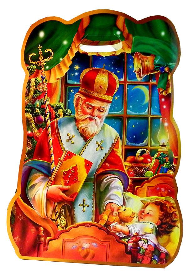 Святкова Упаковка з картону Святий Миколай в роздріб, до 400г