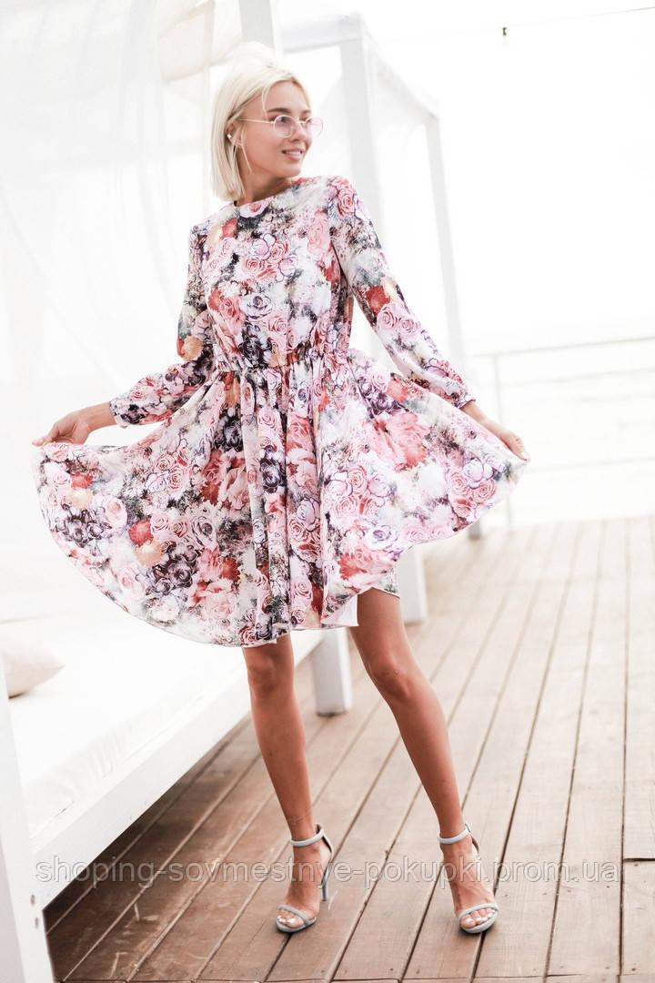 6d7860972df Летнее платье с юбкой солнце (3 цвета) купить в Украине