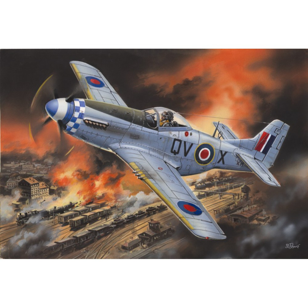 MUSTANG MK.IVA WWII RAF FIGHTER. 1/48 ICM 48155