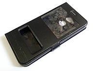 Чехол книжка с окошками momax для Huawei Honor 6C Pro черный