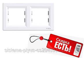 Рамка 2-постовая горизонтальная белая Asfora Schneider Electric