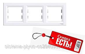 Рамка 3-постовая горизонтальная белая Asfora Schneider Electric