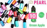 Красители для эпоксидной смолы перламутровые Перл Pearl, 10 г, цвет 10 Зеленое яблоко, фото 1
