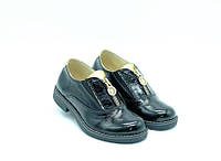 Туфли Constanta с замочком черные для девочек