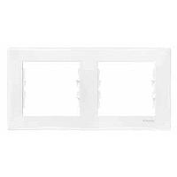 Рамка 2-постовая горизонтальная белая Sedna Schneider Electric