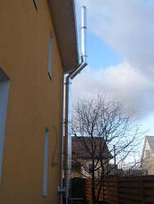 Труба-сэндвич дымоходная (термо) 0,3 метра, 0,5 мм н/оц AISI 304, фото 3