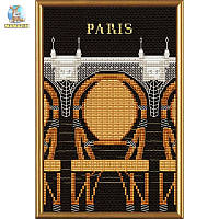 """Набор для вышивания нитками и бисером """"Париж в иллюстрациях. Новый мост"""""""