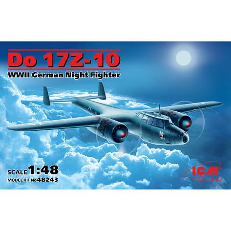 DO 17Z-10, германский ночной истребитель ІІ МВ. 1/48 ICM 48243, фото 2