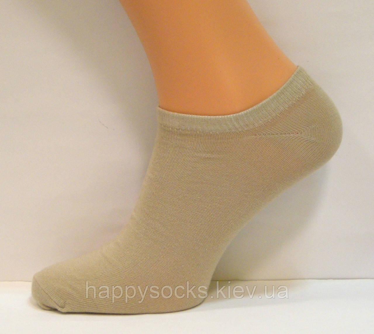 Носки мужские короткие бежевого цвета
