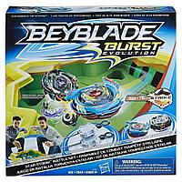Набор волчков Звездный Шторм Beyblade Burst Evolution Star Storm Battle Set, Satomb S3, Valtryek V3