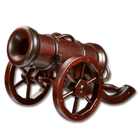Мини-бар в виде пушки №1, материал - ясень (наличие уточняйте)
