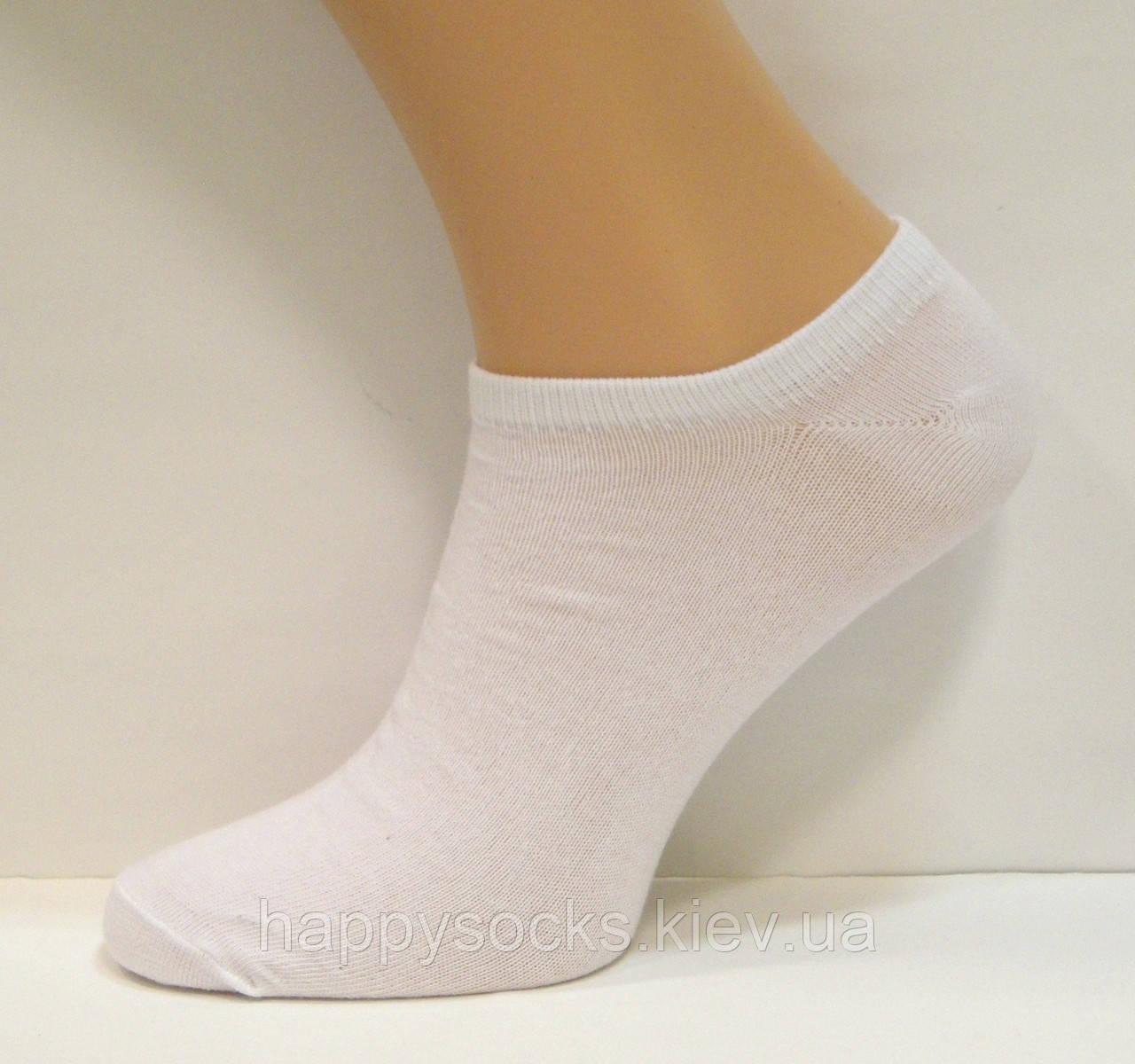 Носки низкие мужские белого цвета