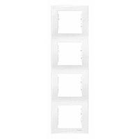 Рамка  4-постовая вертикальная белая Sedna Schneider Electric