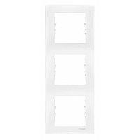 Рамка 3-поста вертикальная белая