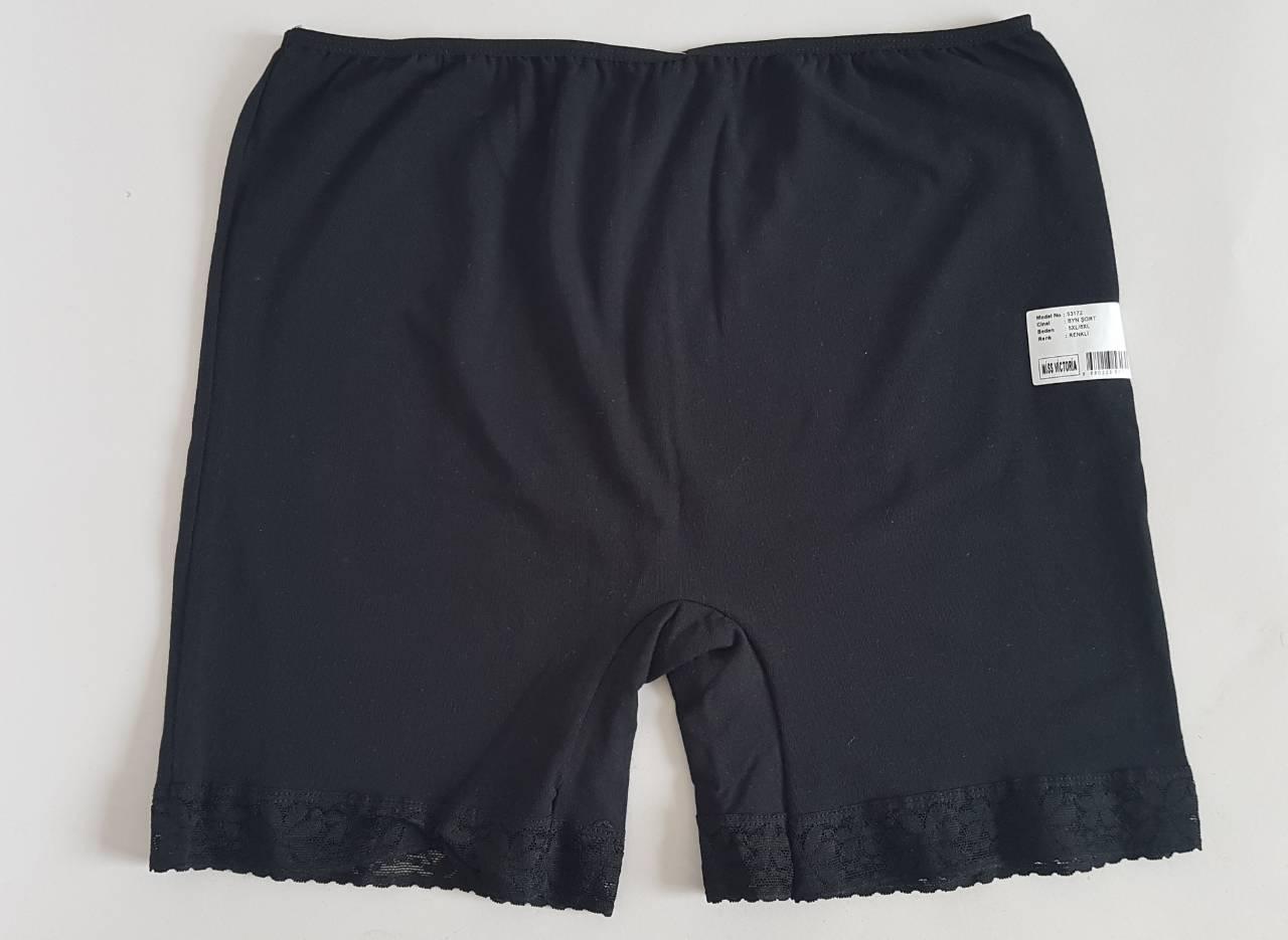 Трусики-шорты женские черного цвета (2 шт)