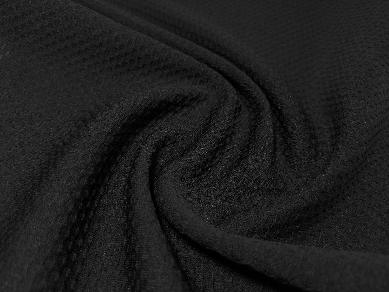 Венский трикотаж облегченный, черный