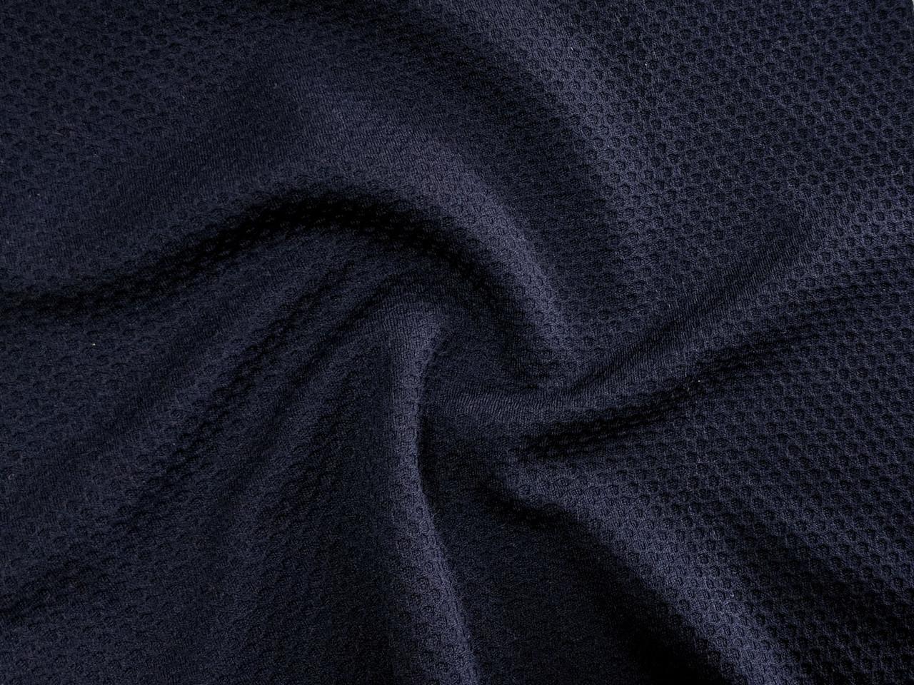 Венский трикотаж облегченный, темно-синий