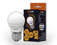 LED лампа G45 5Вт E27 ELCOR шар