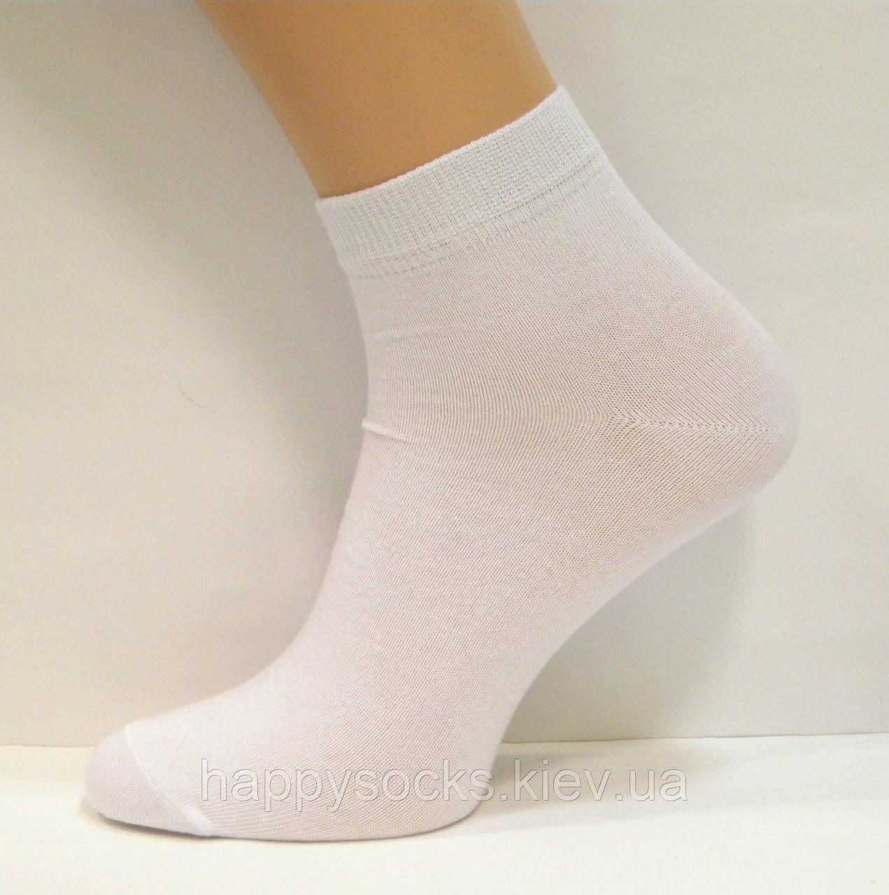 Носки заниженные мужские белого цвета
