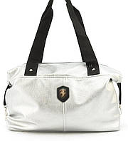 e788a3f5e7a6 Спортивная женская сумка из эко кожи бочонок Wallaby art. 571499 серебристая