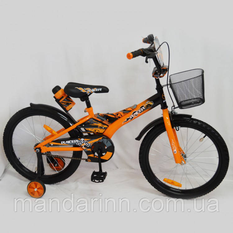"""Детский велосипед """"Racer-20"""" Оранжевый. 20 дюймов."""
