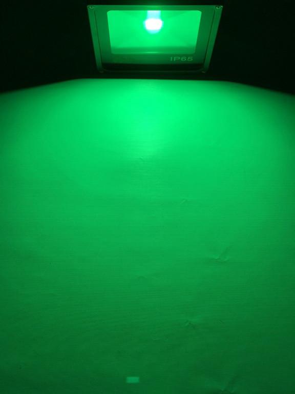 Светодиодный прожектор SL-10 10W зеленый IP65 Код.59314