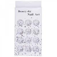 Стразы для ногтей аквамарин Beauty sky №LQ-10, 4мм, фото 1