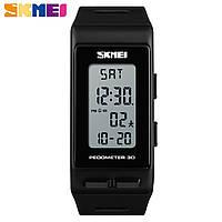 Часы Skmei 1363 Шагомер 3D, Счетчик калорий Black (Original)!, фото 1