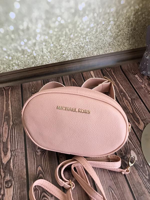 544b92b9a3f9 Женская поясная сумка Michael Kors (Майкл Корс), светло-розовая (пудровая)