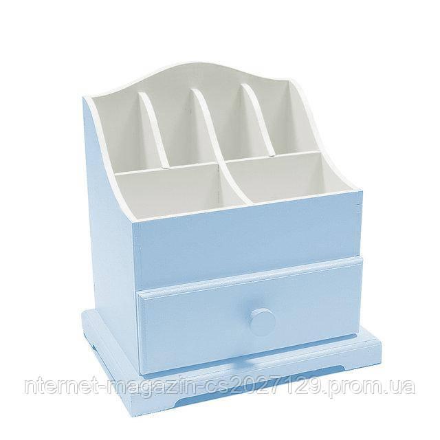 Бело-голубой мини-комодик для украшений
