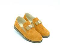 Туфли Constanta для девочек рыжие замша