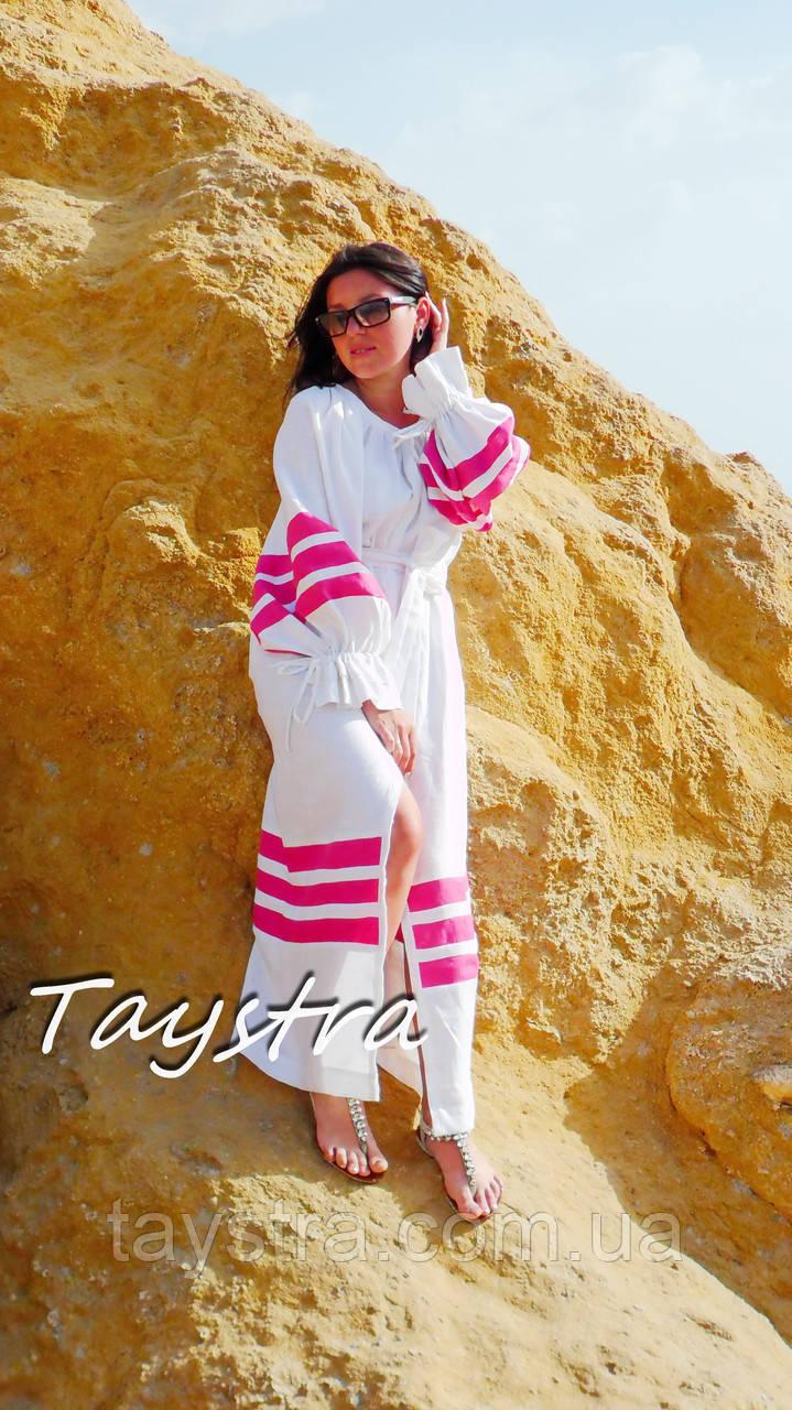 Пляжное платье лен, этно стиль Вита Кин, Bohemian стиль