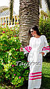 Пляжное платье лен, этно стиль Вита Кин, Bohemian стиль, фото 3