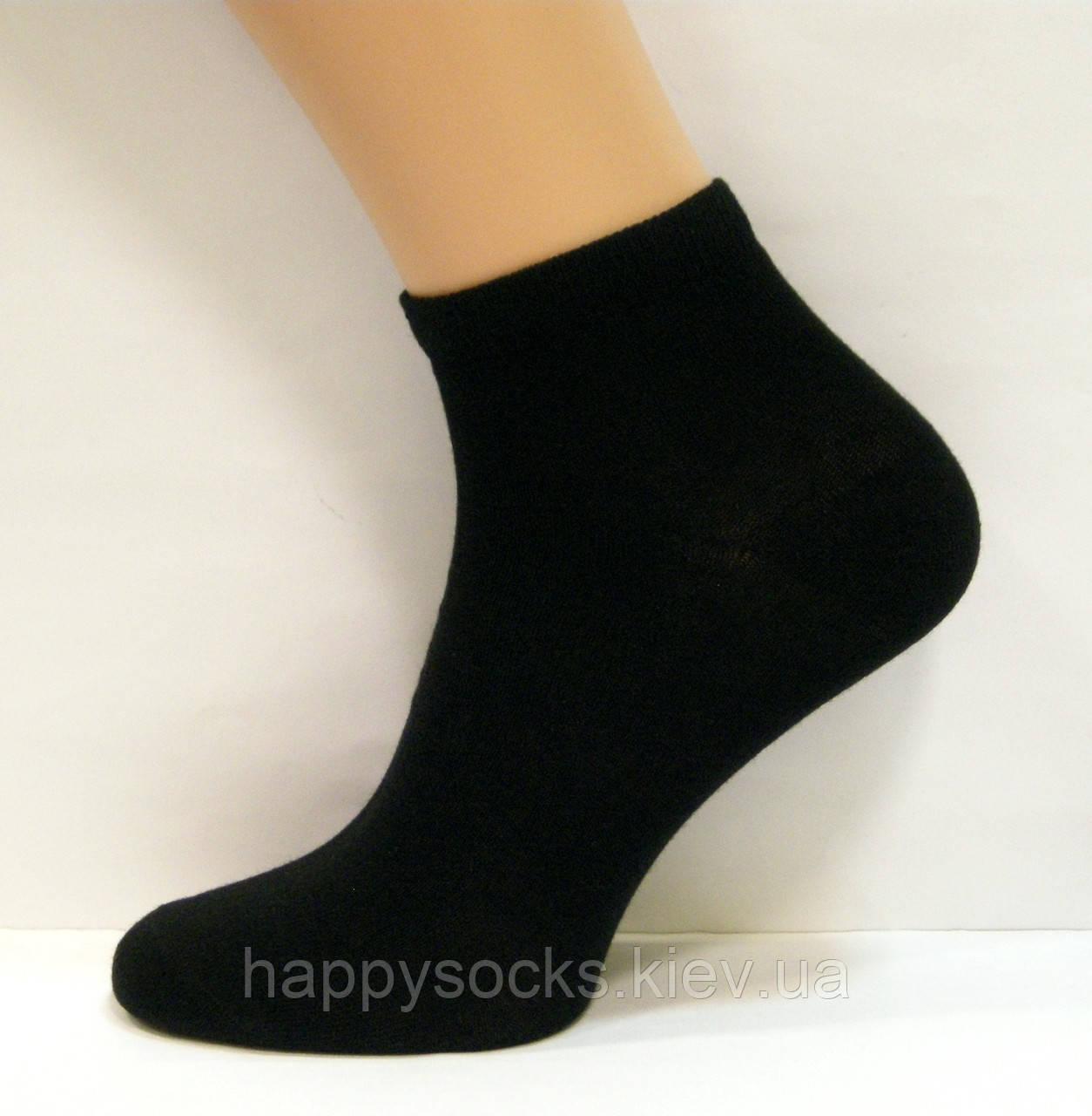 Женские укороченные носки черного цвета