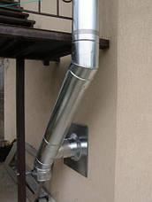 Труба-сэндвич дымоходная (термо) 0,3 метра 0,8 мм н/н AISI 304, фото 3