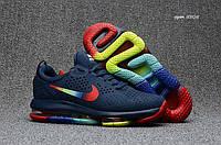 Мужские кроссовки Nike Air Max  DLX,deluxe темно синие(цветные)
