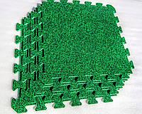 Мягкое модульное покрытие для детских комнат и залов ТРАВА(EVA) 50х50х1см