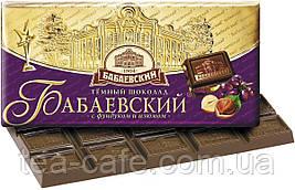 Шоколад Бабаєвський темний з фундуком та родзинками, 100 гр.