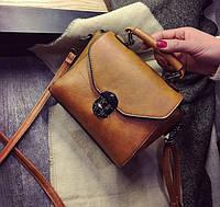 Женская сумка кожаная на плечо Krown
