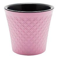 Вазон для растений Гиацинт 1,2 л розовый, фото 1