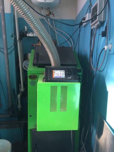 Установка пеллетной горелки Air Pellet 36 кВт в котёл Kostrzewa Pellets 24 от наших партнёров Компании Marten 21