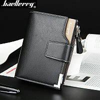 Мужской кошелёк чёрный, портмоне, бумажник бренд baellerry