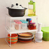 Складная полка  столик подставка стеллаж Удобная вещь на кухне в быту Можно использовать на кухне Код: КГ4878