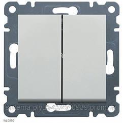 Выключатель 2-клав. универсальный Lumina-2, белый, 10АХ/230В Hager WL0050